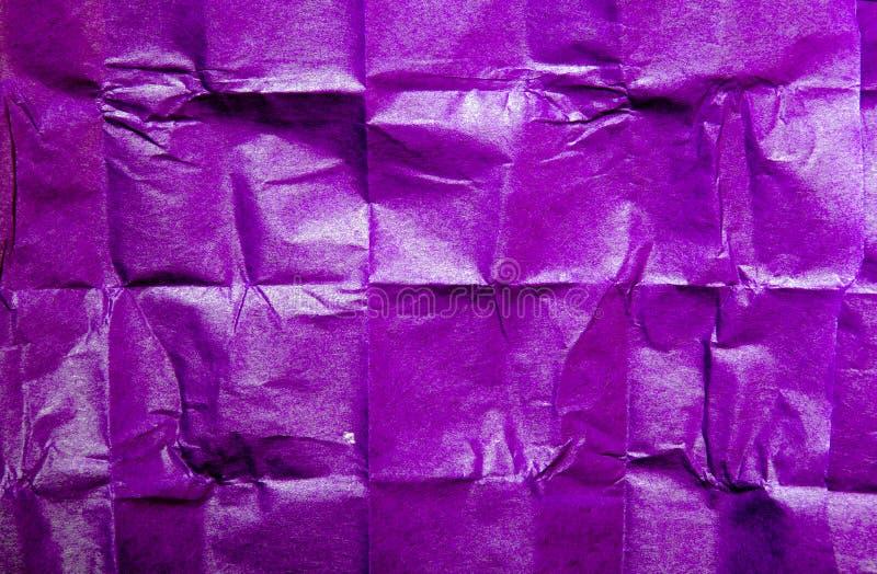 Textura violeta del papel seda para el fondo fotografía de archivo