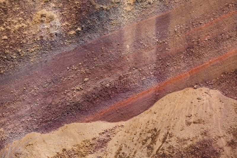 Textura volcánica de la toba volcánica roja foto de archivo