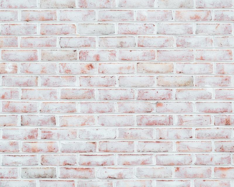 Textura Whitewashed da parede de tijolo imagens de stock royalty free