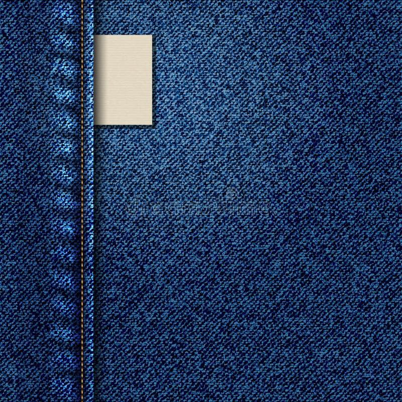 Textura y etiqueta del dril de algodón libre illustration