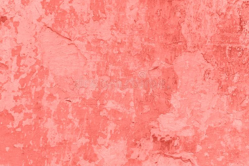 Textura y fondo concretos de la pared Concepto coralino del color imagen de archivo