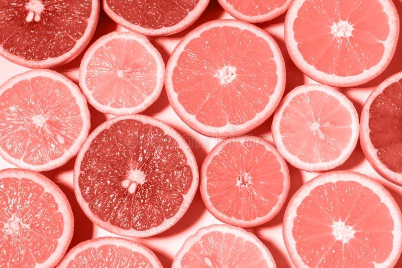 Textura y fondo concretos de la pared Coral Color Background fotos de archivo libres de regalías