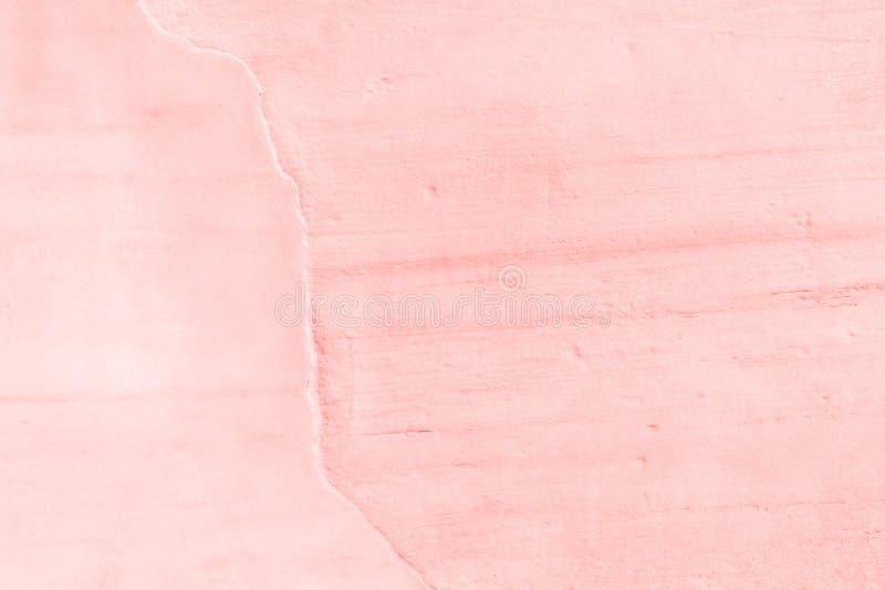 Textura y fondo concretos de la pared Coral Color Background imágenes de archivo libres de regalías