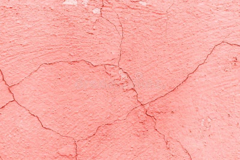 Textura y fondo concretos de la pared Coral Color Background fotografía de archivo libre de regalías