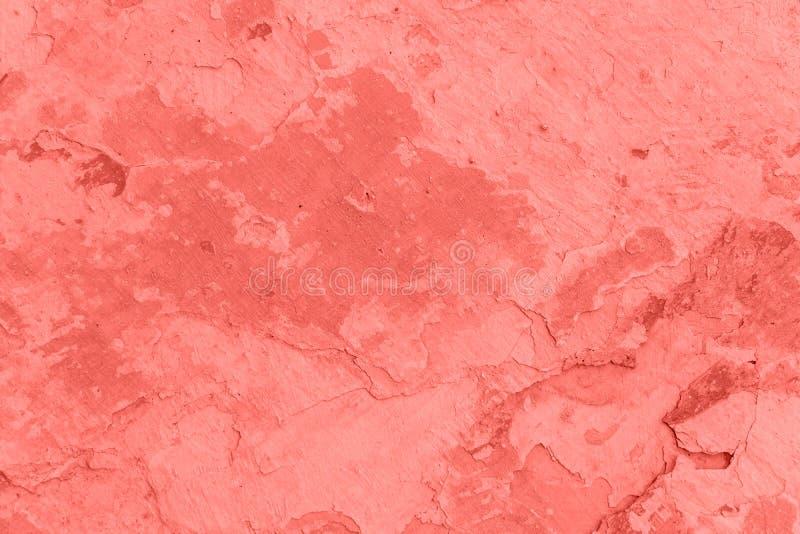Textura y fondo concretos de la pared Coral Color Background imagen de archivo