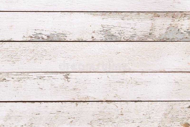 Textura y fondo de la pared de madera natural blanca, Parqué blanco de superficie vacía para el diseño, Mesa blanca vista superio imagen de archivo