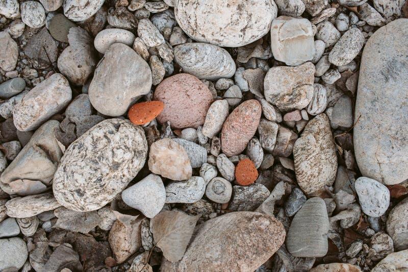 Textura y fondo de la piedra de los guijarros Fondo abstracto hecho con las pequeñas piedras grises fotografía de archivo