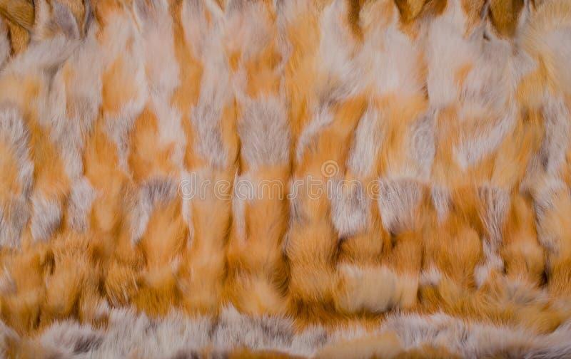 Textura y fondo de la piel de zorro rojo foto de archivo