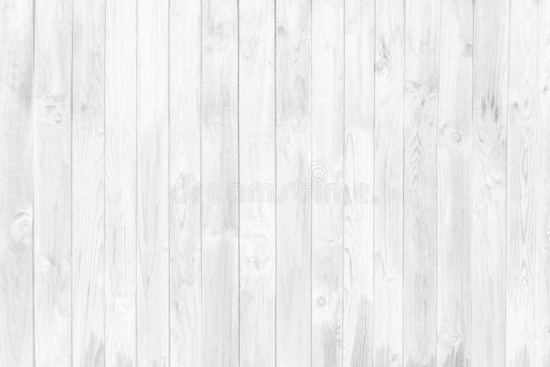 Textura y fondo de madera blancos de la pared