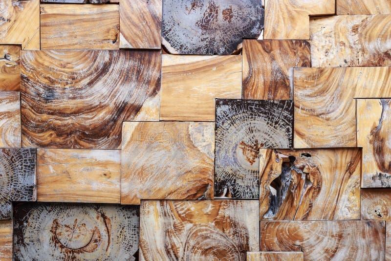 Textura y fondo de madera del bloque Para el de interior o exterior foto de archivo libre de regalías