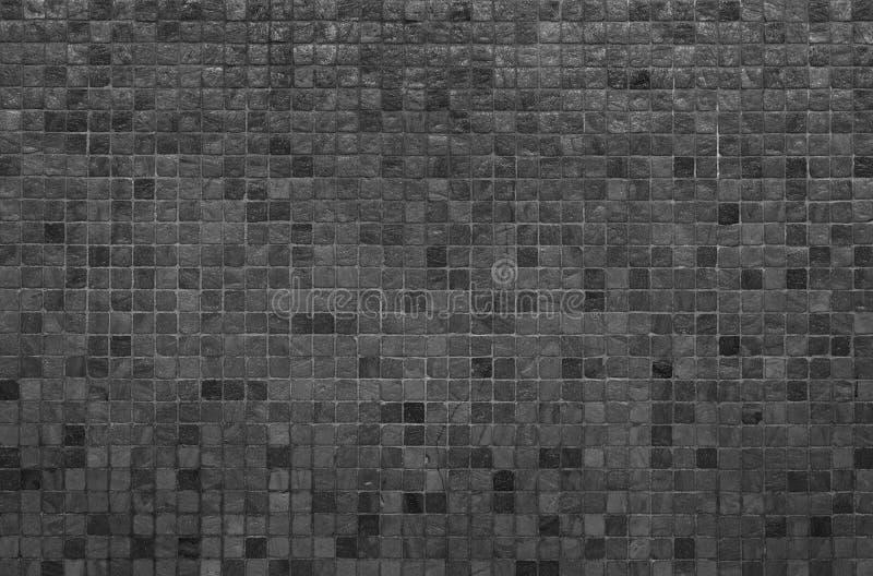 Textura y fondo negros de la pared del mosaico fotografía de archivo libre de regalías