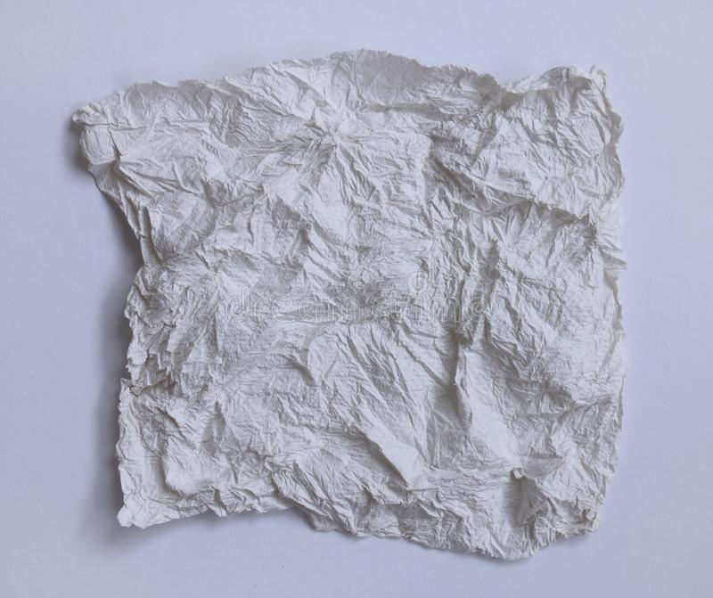 Textural of crumpled tissue paper in white and grey tone. royalty free stock images
