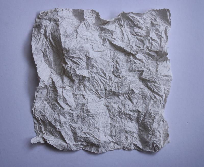 Textural of crumpled tissue paper in white and grey tone. stock photos
