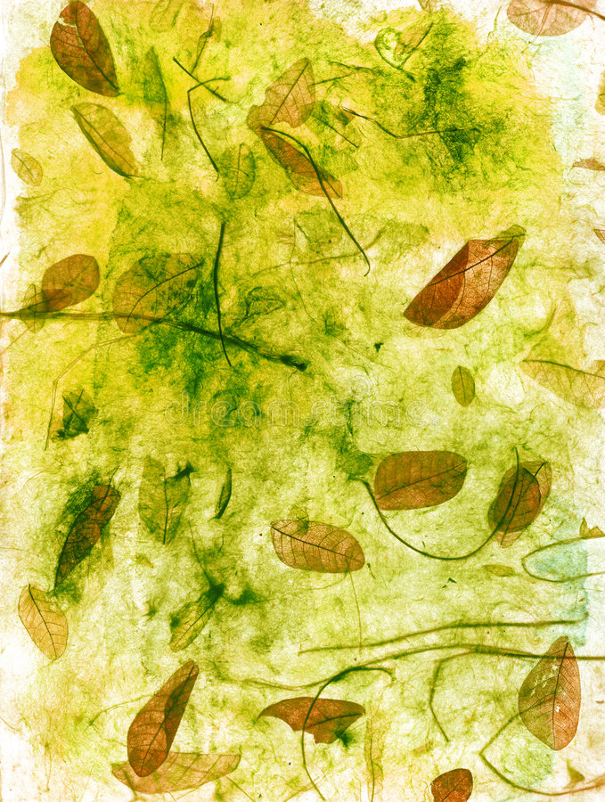 Textural Leaves royalty free illustration