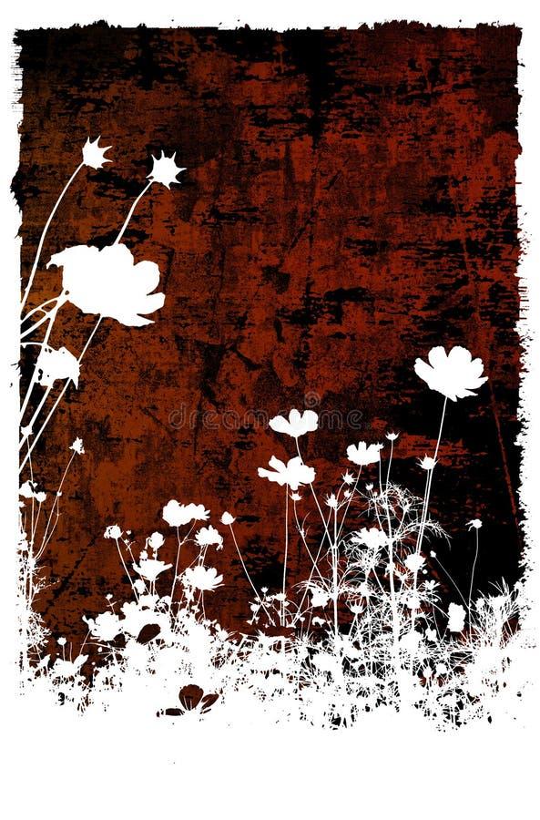 Texturas abstractas de la flor y b stock de ilustración