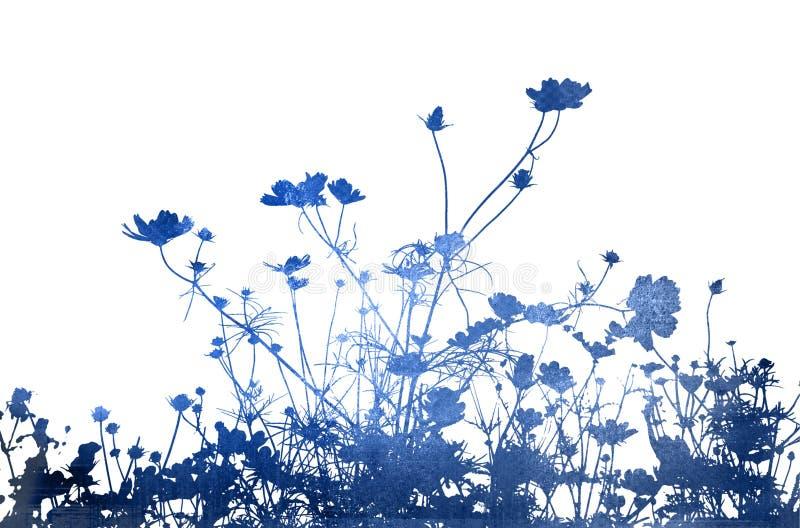 Texturas abstractas de la flor y b libre illustration