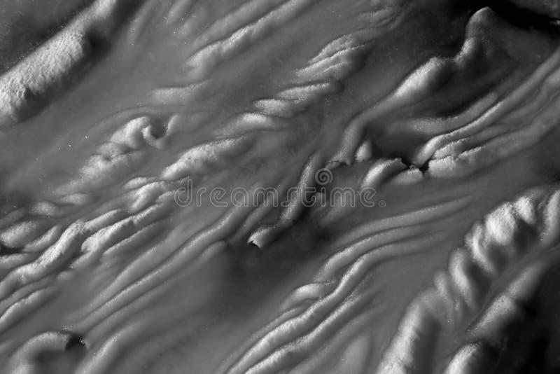 Texturas abstractas de la nieve foto de archivo