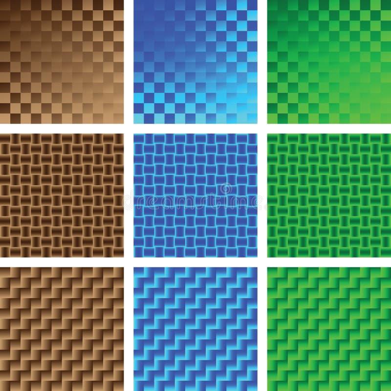 Texturas abstratas ilustração stock