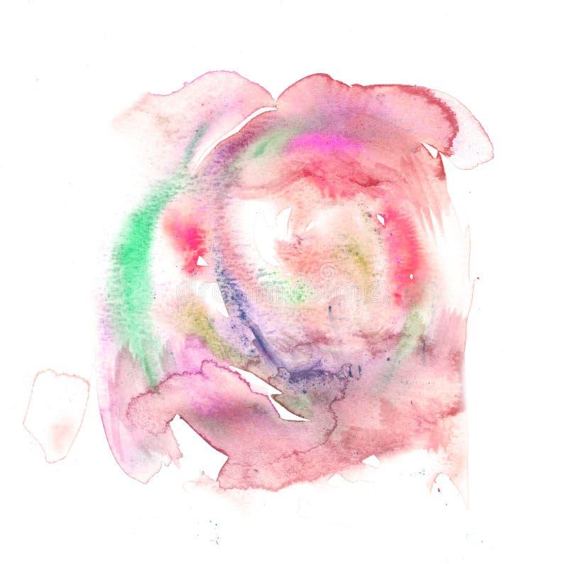 Texturas abstratas das belas artes da pintura do Watercolour ilustração stock