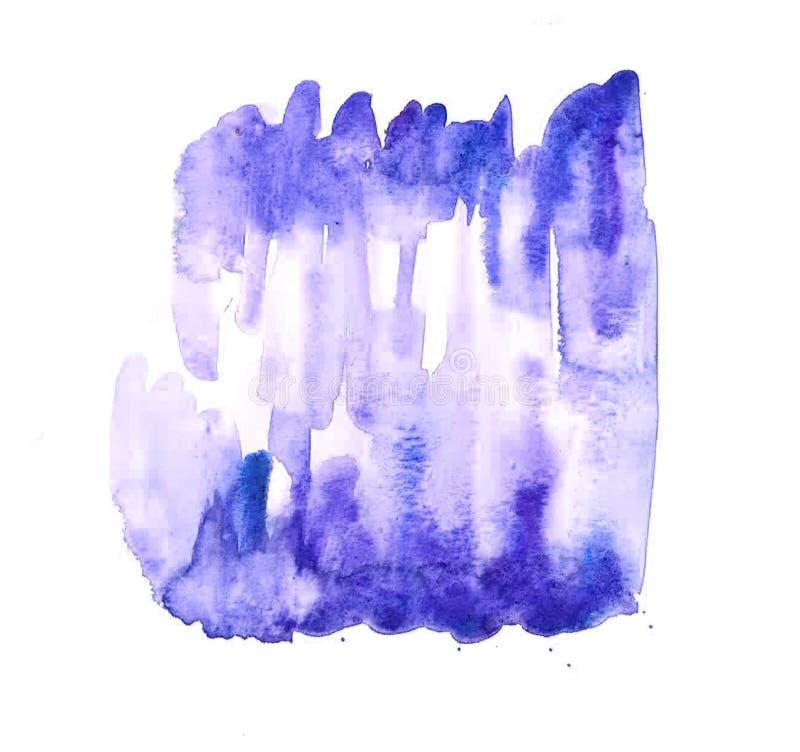 Texturas abstratas das belas artes da pintura do Watercolour ilustração do vetor