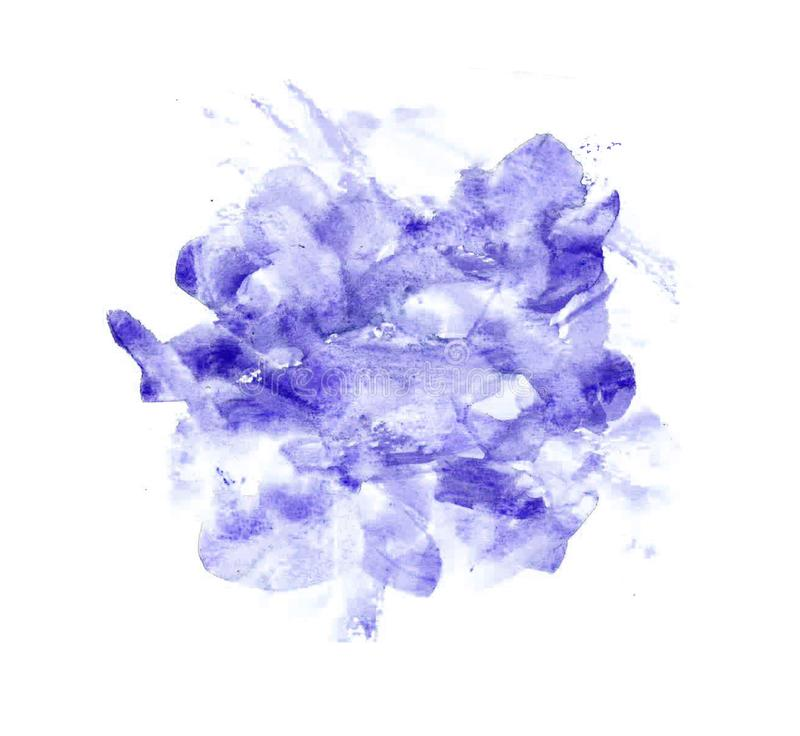 Texturas abstratas das belas artes da pintura do Watercolour ilustração royalty free