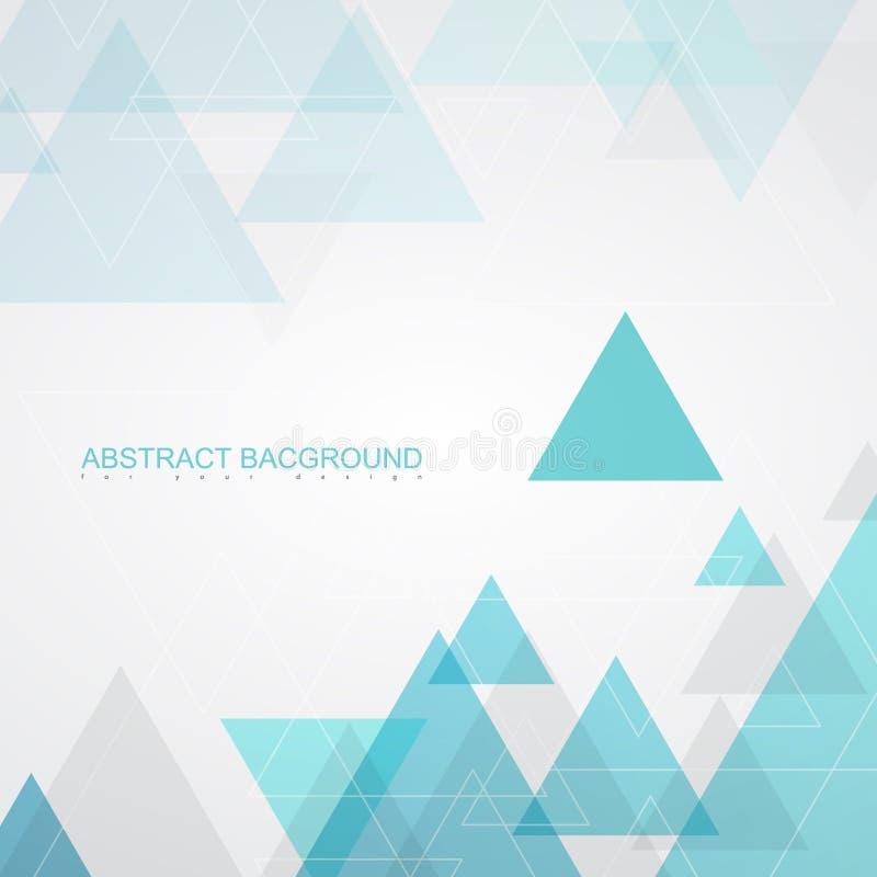 Texturas abstratas do fundo por triângulos de turquesa ilustração do vetor