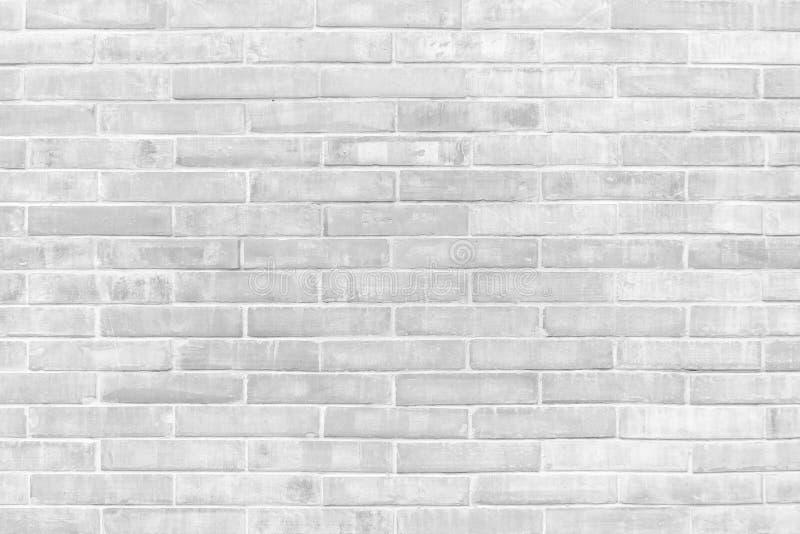 Texturas blancos y negros del fondo de la pared de ladrillo del Grunge foto de archivo libre de regalías