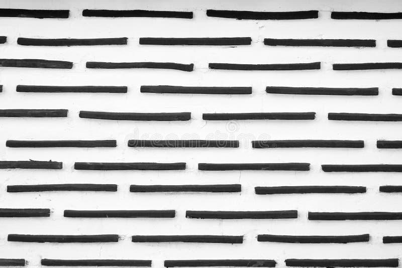 Texturas blancos y negros del fondo de la pared de ladrillo del Grunge imagenes de archivo