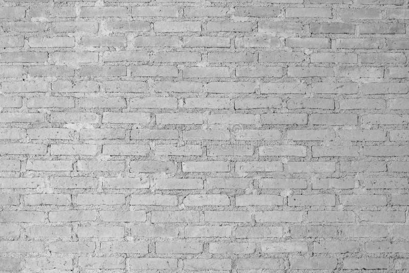Texturas blancos y negros del fondo de la pared de ladrillo del Grunge foto de archivo