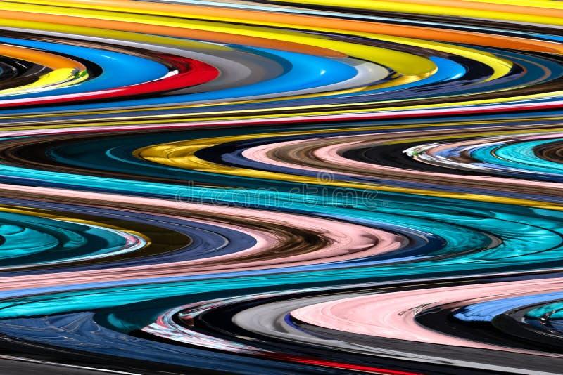 Texturas coloridas de las reflexiones de las botellas de cristal amarillo-naranja, ilustración del vector