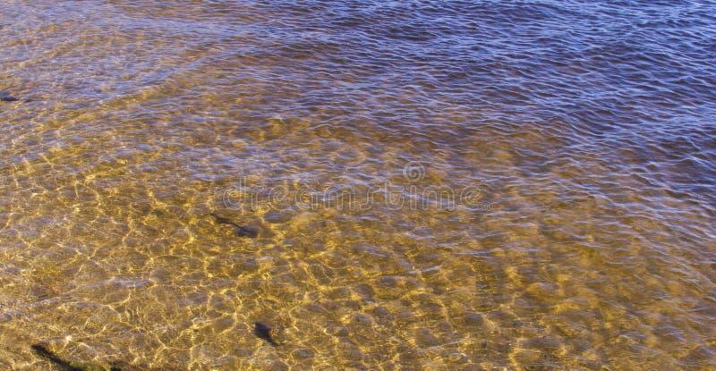 Texturas criadas na água fotografia de stock