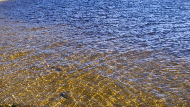 Texturas criadas na água fotos de stock