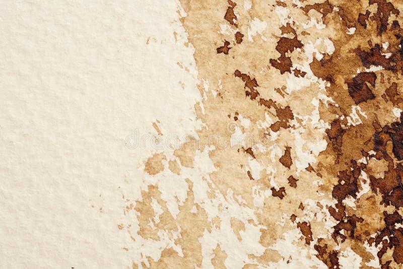 Texturas da aquarela de Brown foto de stock royalty free