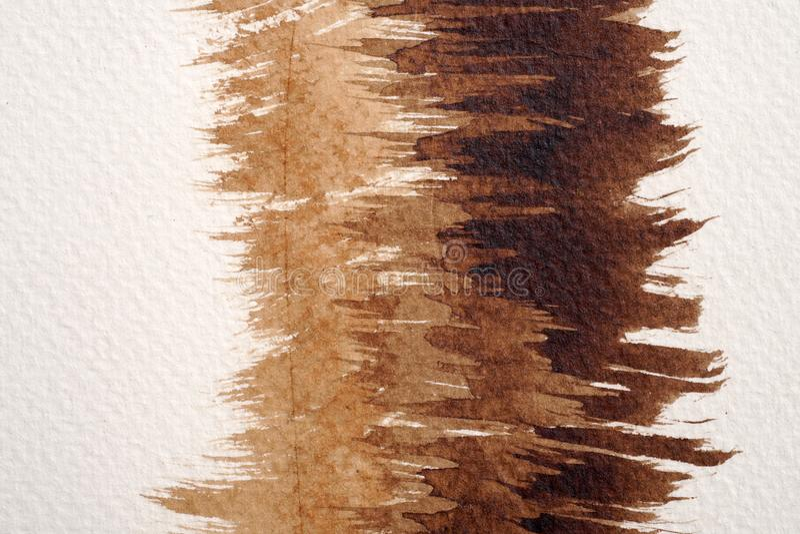 Texturas da aquarela de Brown foto de stock