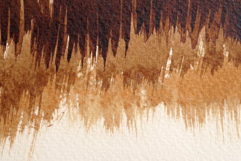 Texturas da aquarela de Brown fotos de stock