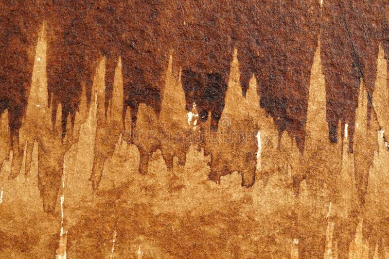 Texturas da aquarela de Brown imagens de stock