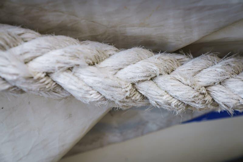 Texturas da corda no porto fotos de stock royalty free