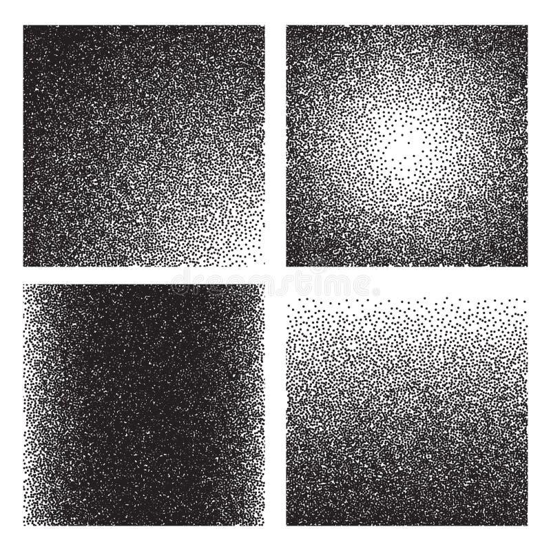 Texturas da grão O inclinação do esboço imprimiu o efeito granulado Fundos de intervalo mínimo do grunge do ruído da areia ilustração royalty free