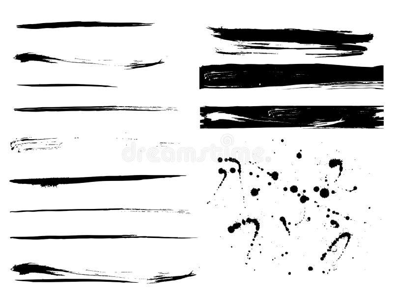 Texturas da pintura de Grunge ilustração do vetor