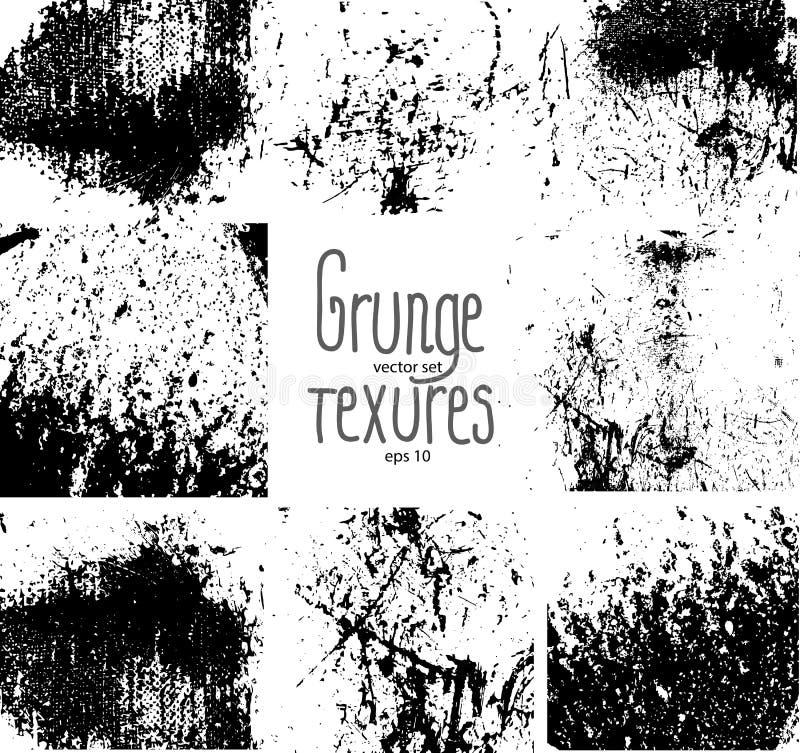 Texturas de Grunge stock de ilustración