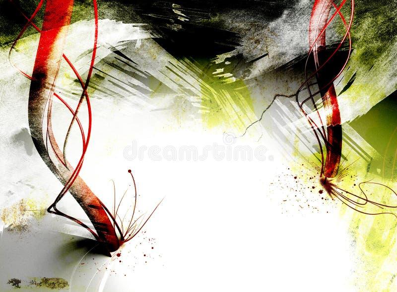 Texturas de Grunge con los elementos 3D ilustración del vector