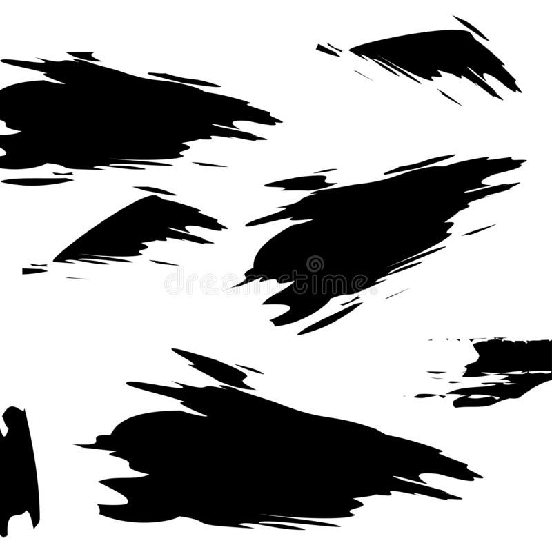 Texturas de Grunge Sistema de movimientos del cepillo aislados en blanco Fondos del vector para su dise?o ilustración del vector