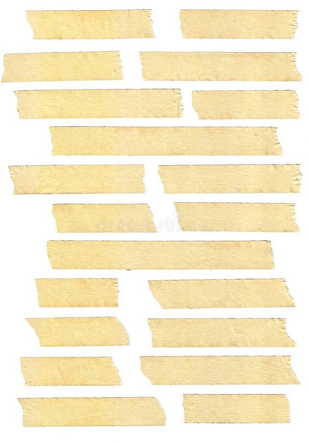 Texturas de la cinta adhesiva imagen de archivo libre de regalías
