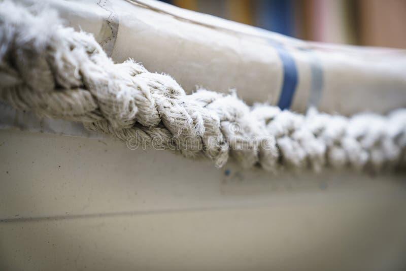Texturas de la cuerda en puerto imagen de archivo