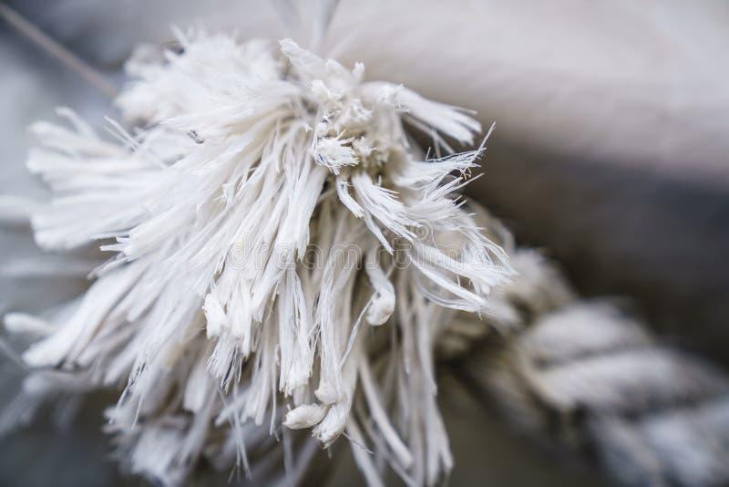 Texturas de la cuerda en puerto foto de archivo