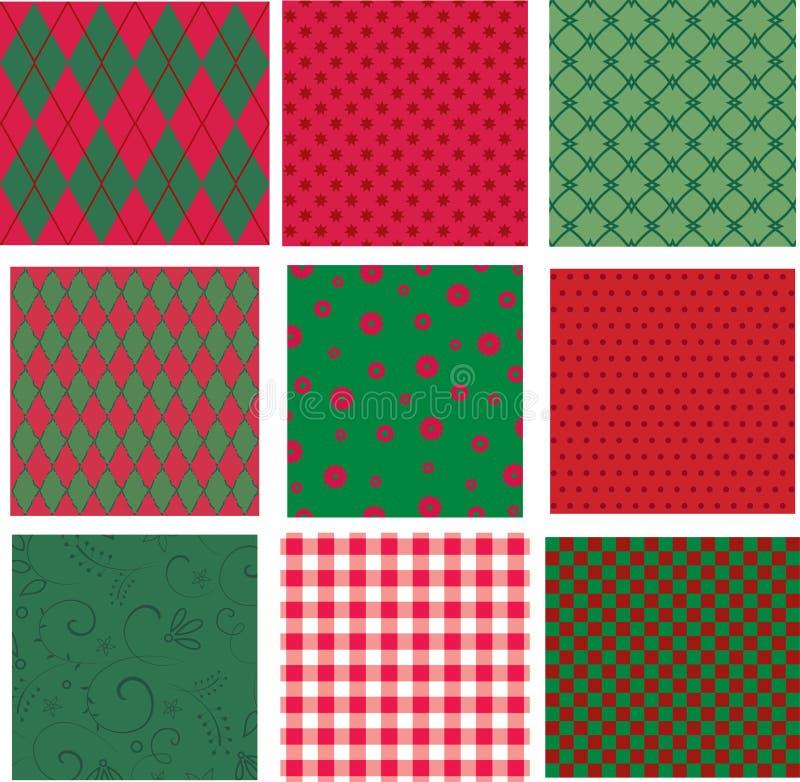 Texturas de la Navidad ilustración del vector