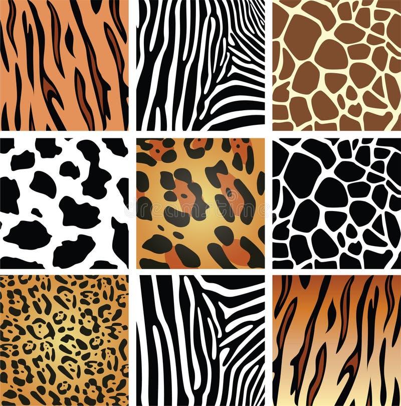 Texturas de la piel animal ilustración del vector