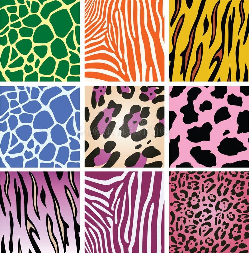 Texturas de la piel animal stock de ilustración