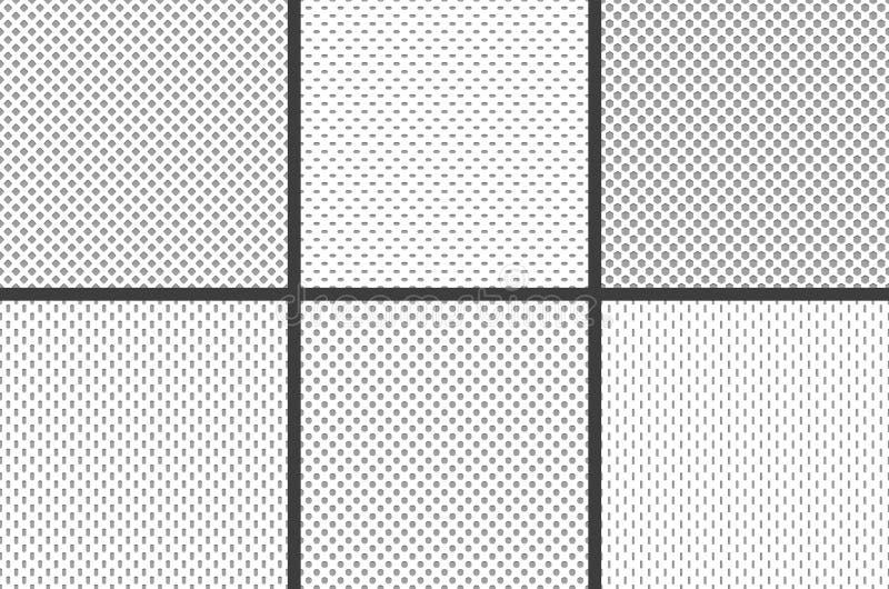 Texturas de la tela del jersey del deporte La textura material de la estructura de la malla atlética de la materia textil, los de stock de ilustración