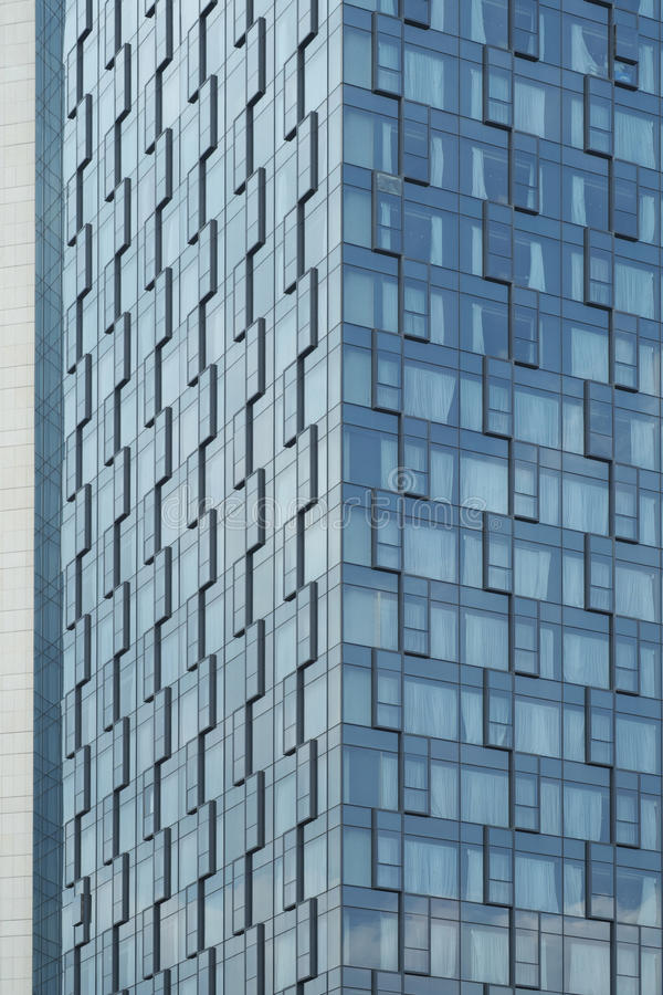 Texturas de las paredes de cristal de la configuración moderna del hotel fotos de archivo